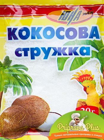 Кокосовая стружка «Юна» 20 г (белая)