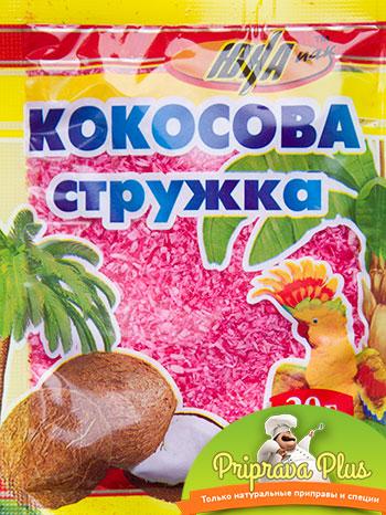 Кокосовая стружка «Юна» 20 г (розовая)