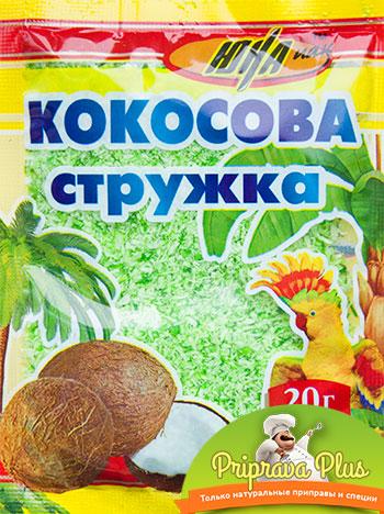 Кокосовая стружка «Юна» 20 г (зелёная)