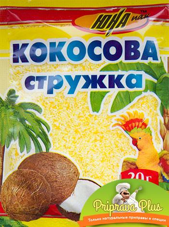Кокосовая стружка «Юна» 20 г (желтая)