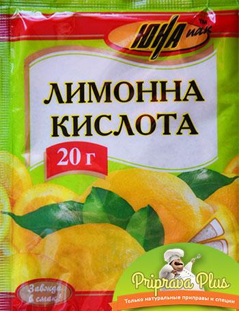 Лимонная кислота «Юна» 20г