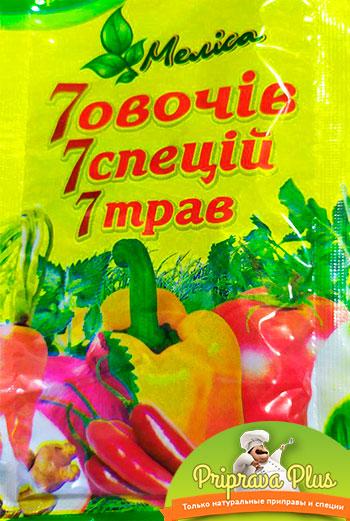 7 овощей 7 специй 7 трав «Мелиса» 75 г