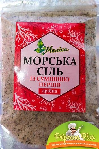Морская соль со смесью перцев «Мелиса» 200 г