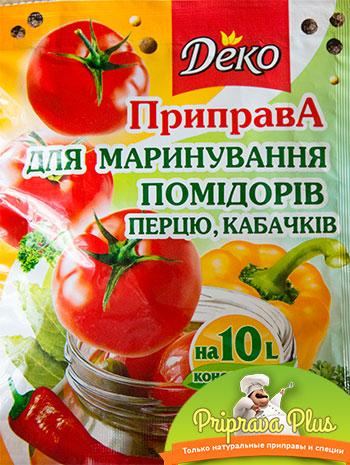 Приправа для маринования помидоров, перца и кабачков «Деко»