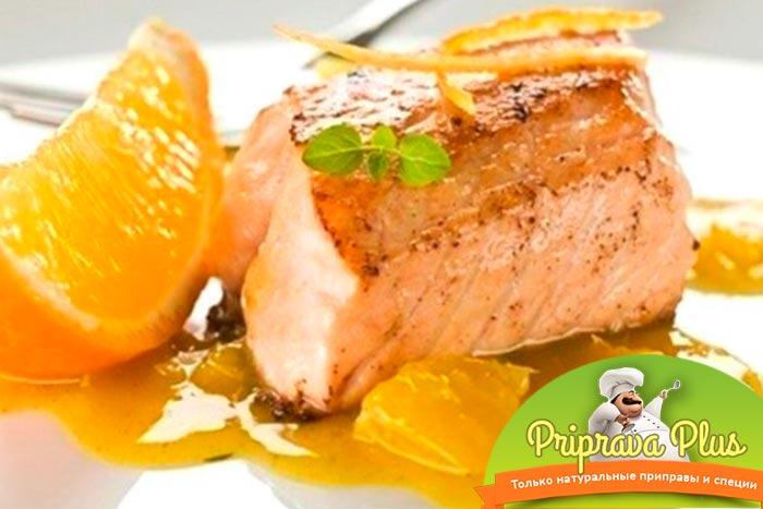 Нежнейшее рыбное филе под апельсиновым соусом