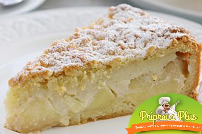 Очень вкусный яблочный пирог с заварным кремом